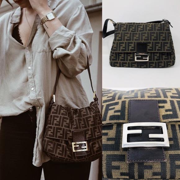 Fendi Handbags - FENDI ZUCCA MAMA BAGUETTE (TOBACCO) e005d01a35502